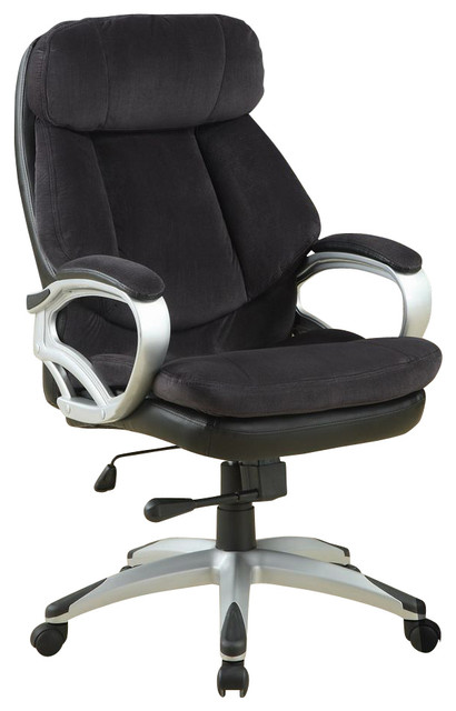 Monarch Specialties Contemporary Velvet Executive Office Chair w/ Pneumatic Gas furniture