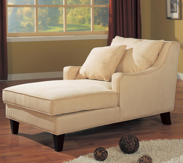 Accent seating microfiber chaise lounge by coaster sku for Chaise longe sofa