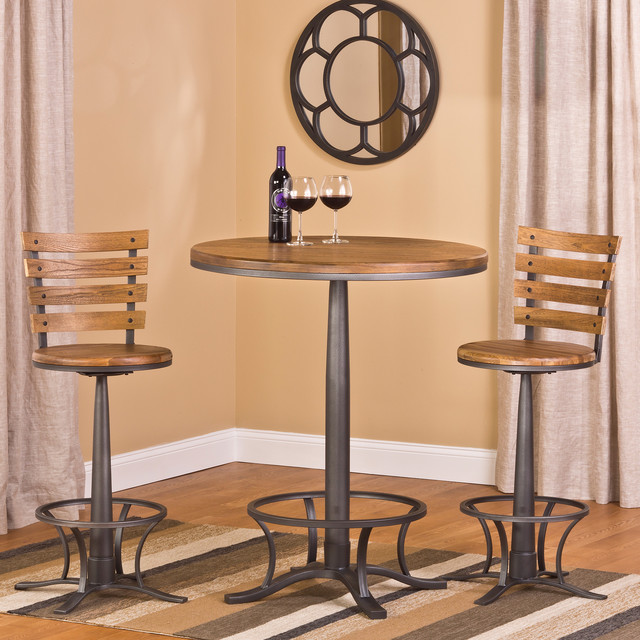 Westview Bar Height 3 Piece Bistro Set Contemporary Indoor Pub And Bistro Sets By