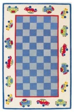 KAS Rugs Kidding Around 426 Blue/Ivory Cars Area Rug modern-rugs