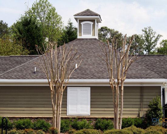Recent Asphalt Roofing Jobs - A Pool House with newly installed asphalt shingles
