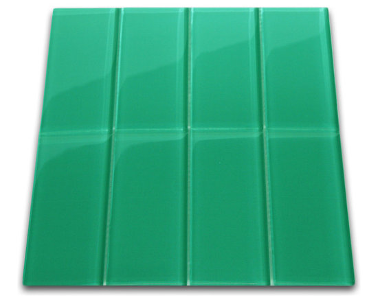 CNK Tile - Emerald Glass Subway Tile, Sqft - The Emerald Subway Tile is made from the strongest stain-resistant crystal clear glass. These tiles have a 8mm thickness that increases their durability and the depth of their color making them truly beautiful subway tiles. These subway tiles can be used for commercial or residential construction in either a wet or dry environment.