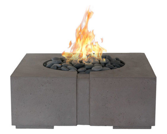 Bravo Concrete Firepit by DEKKO Concrete - Bravo firepit, available in natural gas or propane  60,000 BTU's.