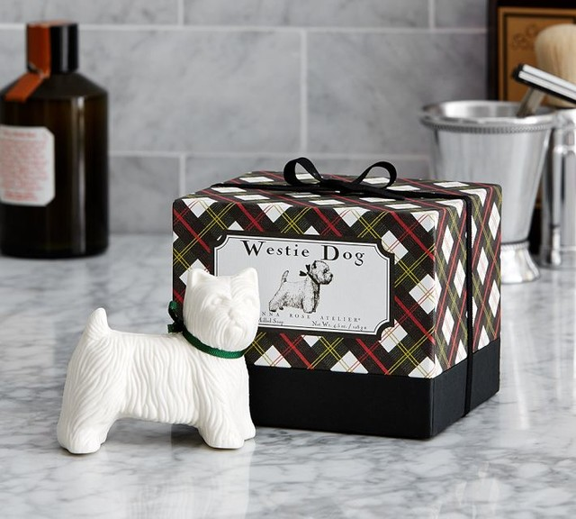 rose atelier westie dog soaps set of 2 eclectic bathroom accessories
