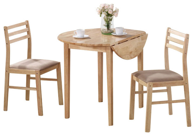 Monarch specialties 3 piece 36x36 round dining room set in for Traditional round dining room sets