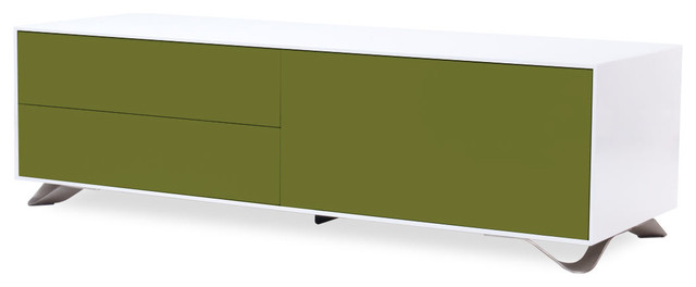 Boomerang White-Olive Green Special Edition Sideboard Medium contemporary-buffets-and-sideboards