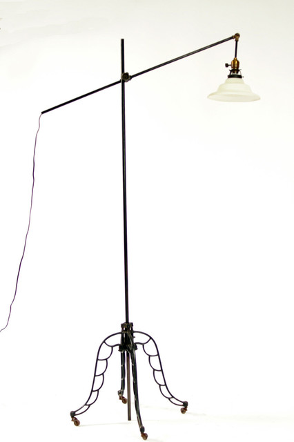 industrial o c white style adjustable floor lamp eclectic floor lamps. Black Bedroom Furniture Sets. Home Design Ideas