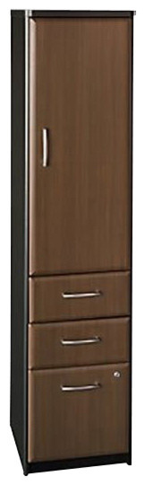 Bush Series A Vertical File Storage Cabinet in Sienna Walnut/Bronze-Assembly Req transitional-filing-cabinets-and-carts
