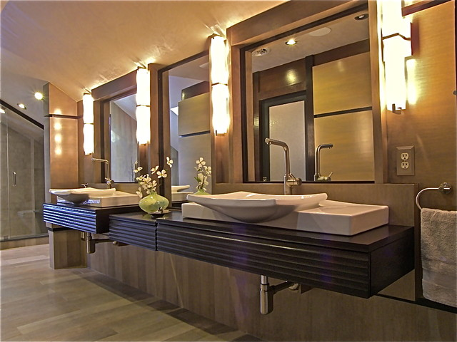 Attic master bathroom contemporary bathroom new york for Master bathroom modern