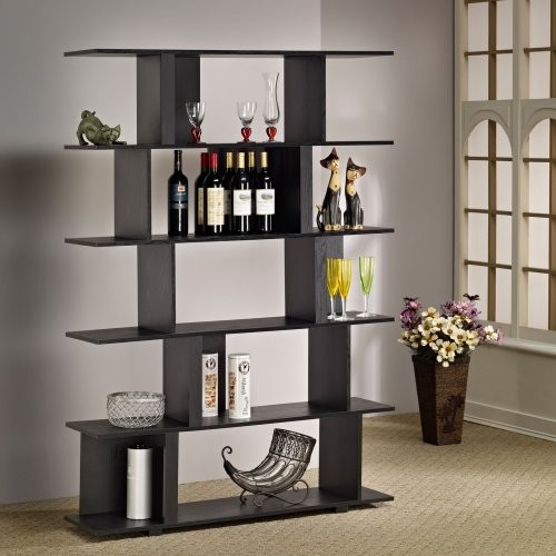 Fuzion Modern Bookcase - Black contemporary-bookcases