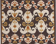 Cenon Ikat Black Rug mediterranean rugs