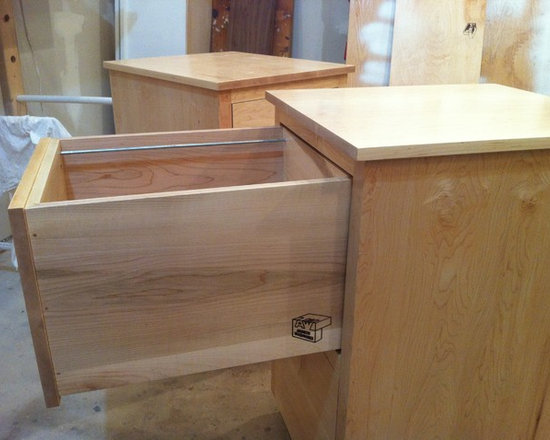 Past Projects - Custom Maple File Cabinet on rollers