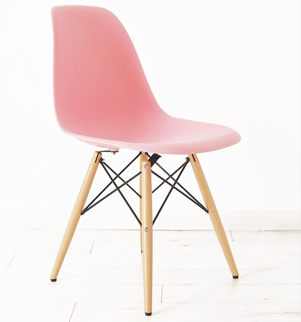dsw eames plastic side chair pink midcentury dining. Black Bedroom Furniture Sets. Home Design Ideas