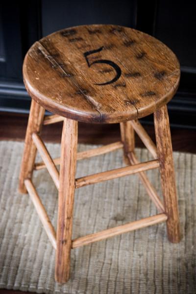 Lettered Cottage - stool