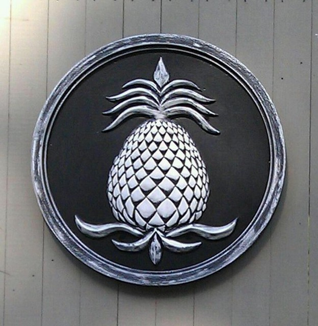 pineapple garden plaque outdoor decor boston by