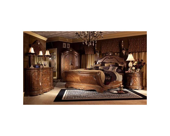 AICO Furniture - Cortina Queen Bedroom Set - 65050-28-5pc - Exclusive Cortina Collection