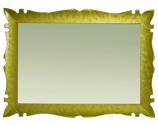 "Versalles 43"" 1/4 bathroom mirror.Gold fantasy. -"