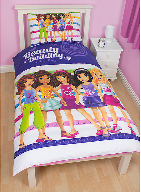 Lego Throw Pillow And Blanket Set : Lego Friends Single Duvet Cover and Pillow Set - Contemporary - Children s Bedding - by John Lewis