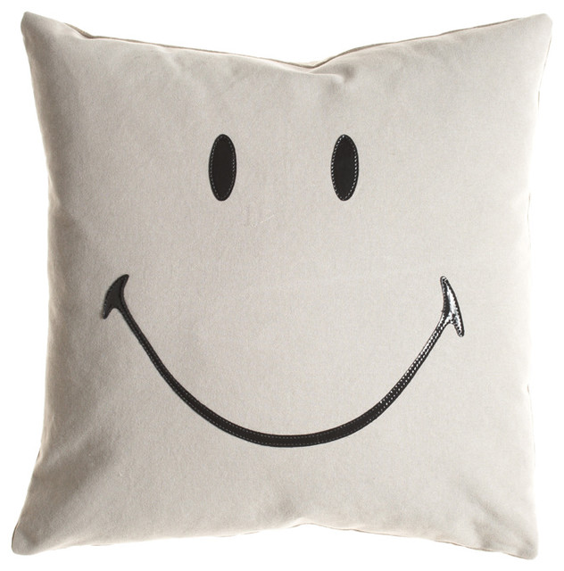 Ghost Smiley Pillow - eclectic - pillows - by Calypso St. Barth