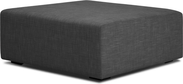Seed Dark Grey Ottoman Modern Footstools And Ottomans
