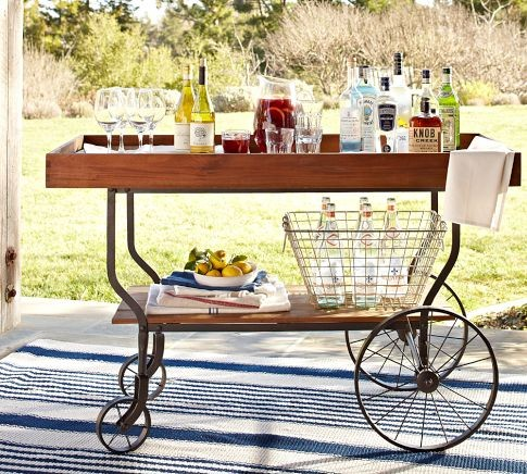 Tavern Bar Cart - contemporary - patio furniture and outdoor