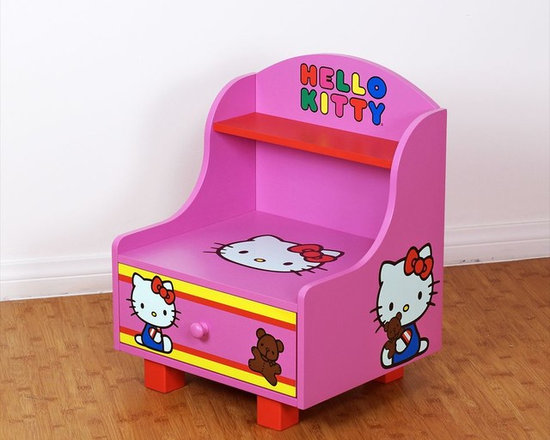 Kids Furniture - The Hello Kitty Side Table creates the perfect bedroom for your little one. The shelf, tabletop, and drawer offer space for a clock, lamp, toys, and a bedtime story book!