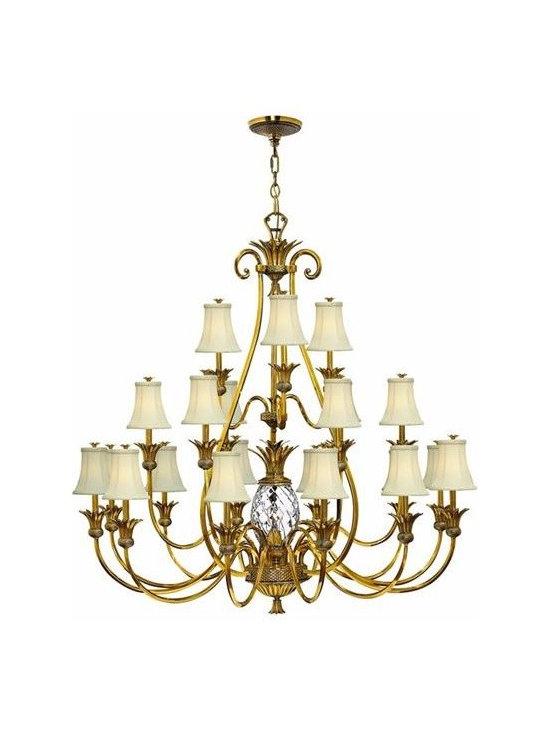 Hinkley Lighting 4889BB 3 Tier 21 Light Chandelier Plantation Collection -