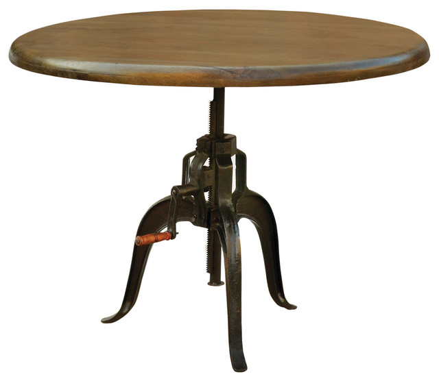 rockwell adjustable round dining table 48 industrial
