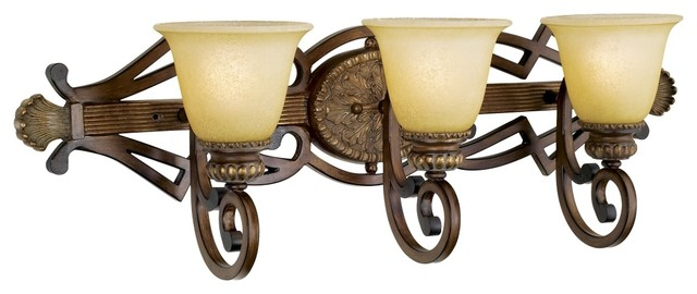 Country Cottage Belcaro Collection 30 3 4 Wide Bathroom Light Fixture Traditional