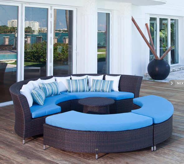 San Diego Modular Outdoor Circle Sofa Set Contemporary Outdoor Lounge Sets By Furniture
