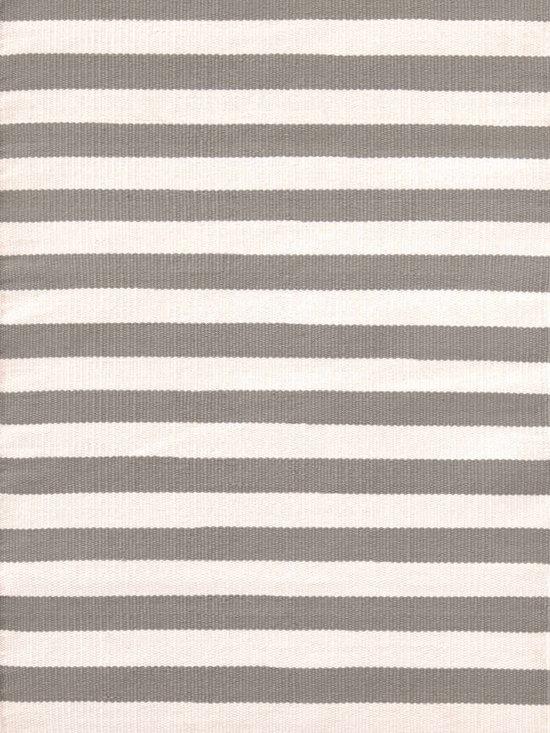 Trimaran Stripe Fieldstone/Ivory Indoor/Outdoor Rug | Dash & Albert Rug Company -
