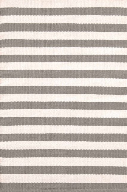 Trimaran Stripe Fieldstone/Ivory Indoor/Outdoor Rug | Dash & Albert Rug Company contemporary-rugs