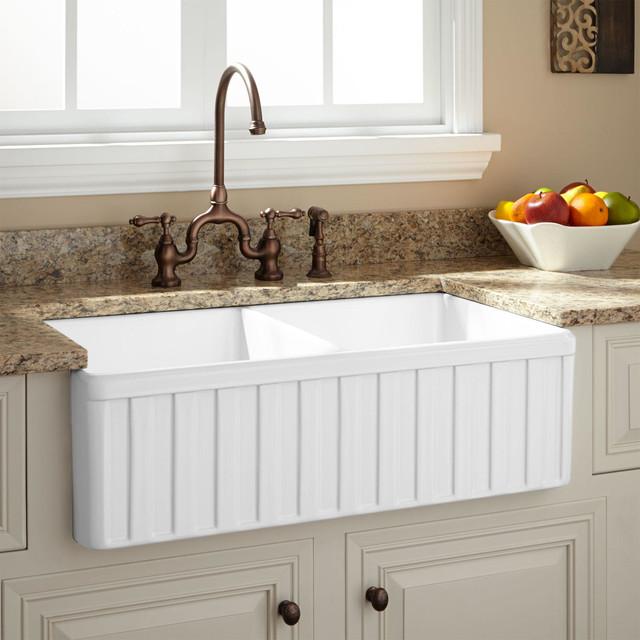 Farmhouse Double Bowl Kitchen Sink : All Products / Kitchen / Kitchen Fixtures / Kitchen Sinks