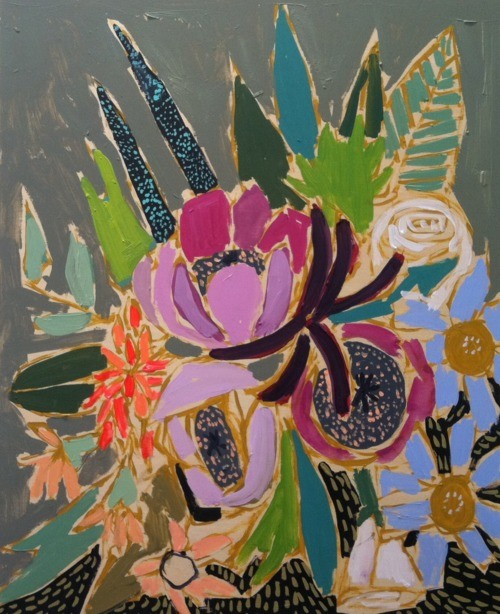Flowers by Lulie Wallace contemporary-artwork