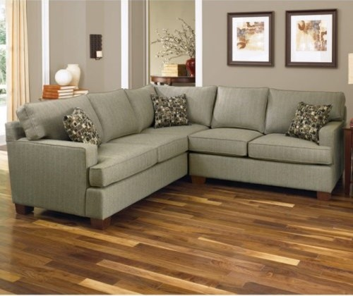 Charles Schneider Anderso Granite Fabric Sectional Sofa with Accent Pillows contemporary-sectional-sofas