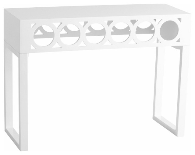 Modern white circles console table transitional console tables