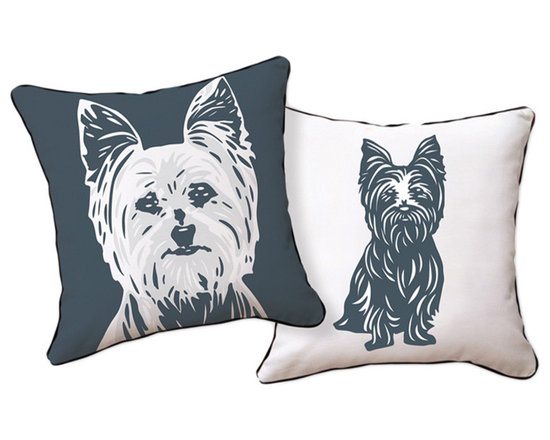 Naked Decor Yorkshire Terrier Reversible Pillow
