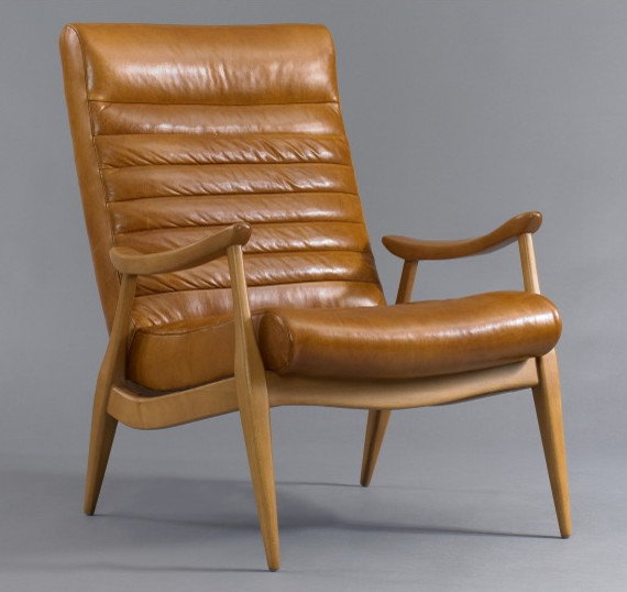 Hans Leather Chair contemporary-accent-chairs