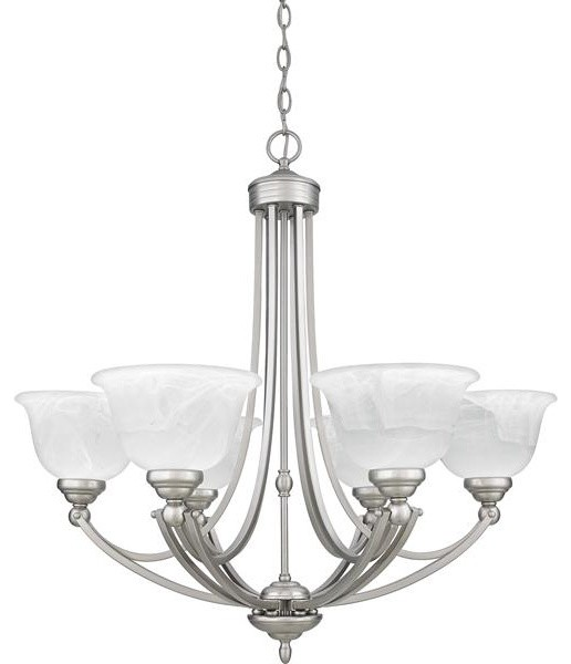 Quoizel Lighting DY5072ES 6 Light Chandelier Delray Collection chandeliers
