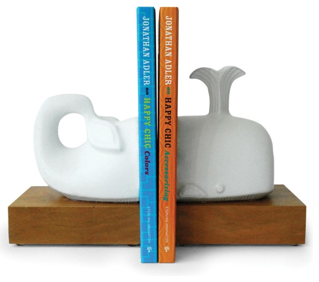 Jonathan Adler Whale Bookends traditional-books