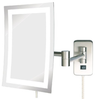 Jerdon Jrt710nl 6 5 Inch By 9 Inch Led Lighted Wall Mount