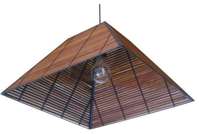 "9"" Yamanote Japanese Ceiling Lantern asian-outdoor-flush-mount-ceiling-lighting"