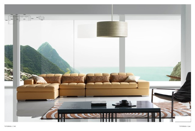 Bayfield Italian Leather Sectional Sofa Modern Sectional Sofas Los Ange