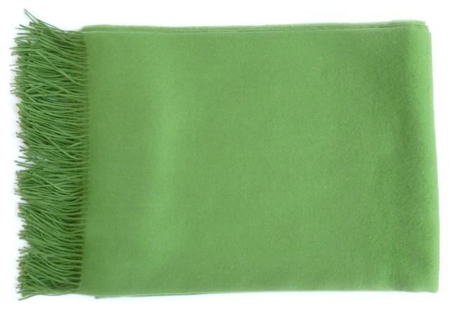 Linen Way green baby alpaca throw modern-throws