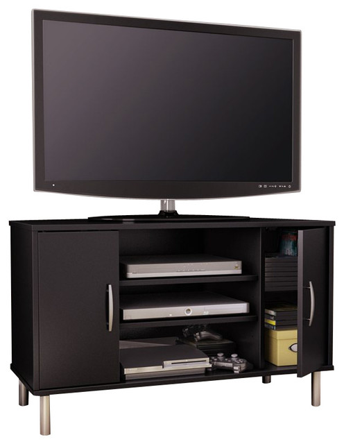 South Shore Renta Corner TV Stand in Pure Black - Modern - Entertainment Centers And Tv Stands ...