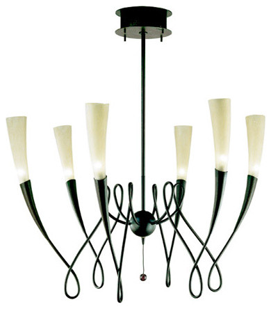 Terzani | Virgins Six Light Chandelier contemporary-chandeliers