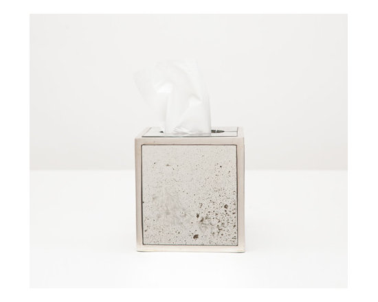 Atwater Tissue Box - Your bathroom should reflect your exquisite taste! Antiqued mirror trimmed with silver-leafed wood evokes a charming depth. Choose a wastebasket or tissue holder for a dash of vintage chic.