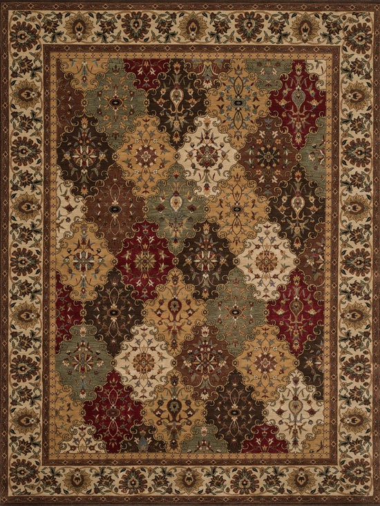 """Loloi Rugs - Loloi Rugs Stanley Collection - Multi / Beige, 2'-6"""" x 7'-9"""" - The magnificent Stanley Collection features modern interpretations of the most sophisticated hand knotted designs. Recreated in Egypt with power loomed technology these gorgeous polypropylene area rugs offer an affordable alternative."""