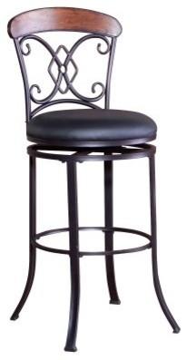 Diamond Suit 29 in. Swivel Bar Stool - Dark Coffee modern-bar-stools-and-counter-stools
