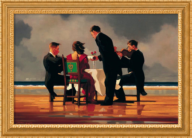 Elegy for a Dead Admiral Framed Canvas by Jack Vettriano traditional-prints-and-posters